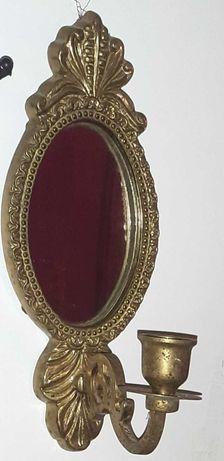 Espelho / Castiçal  em Bronze