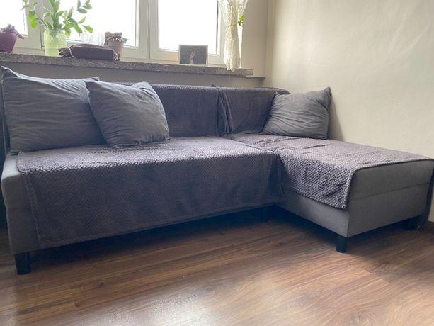 Sofa rozkładana dwuosobowa szara Angsta (Ikea)