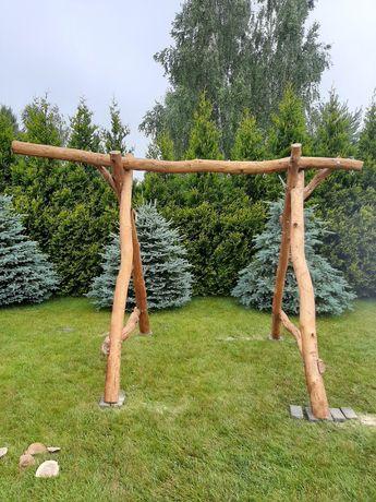 Huśtawka z drzewa dębowego