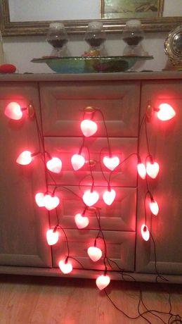 Serduszka Walentynkowe lampki 2komplety