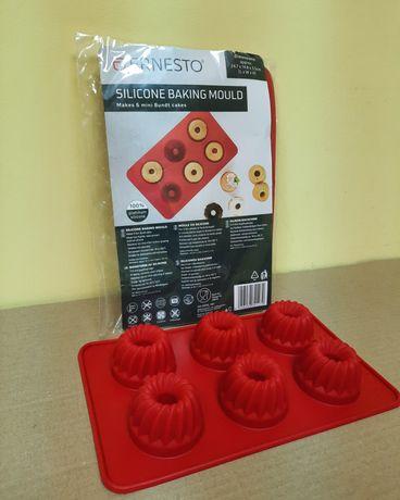 Силиконовая форма для выпечки и кексов