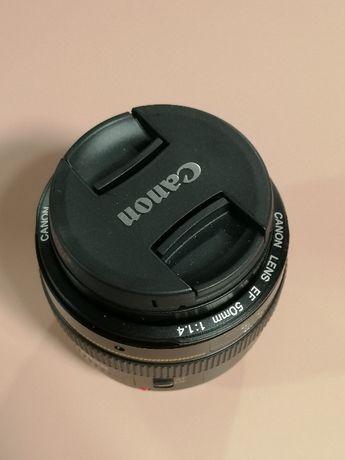 Obiektyw 50mm 1.4 Canon STAN IDEALNY