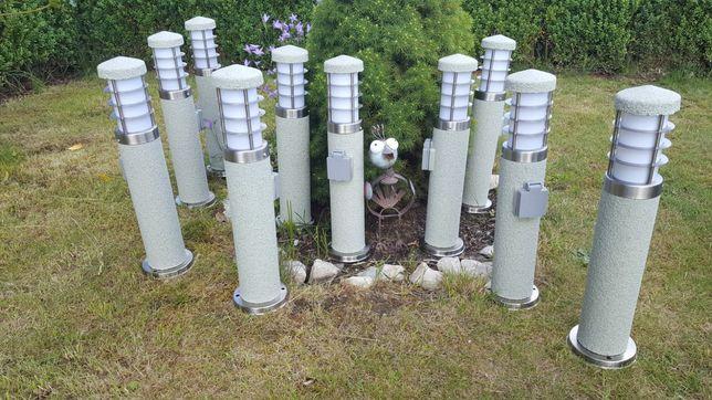 Oświetlenie lampa ogrodowa z gniazdkiem