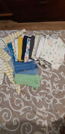 Большой пакет детских вещей 6- 9 месяцев