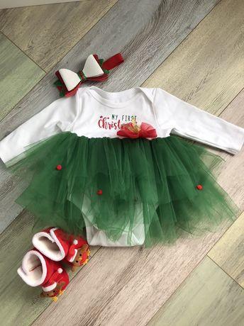 Новогоднее платьице для малютки принцессы