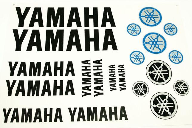 Naklejki Yamaha czarne YZ YZF WR125 R125 R1 R6 Fazer Xj600 DT125 Aerox
