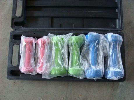 Набір гантелей в кейсі 6 шт. (2х0,5; 2х1,0; 2х1,5 кг)