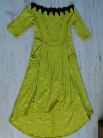 Платье со шлейфом 48-50р
