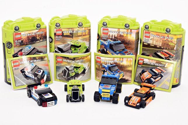 Zestaw LEGO 8301 & 8302 & 8303 & 8304 Wyścigówka Auto Racers Klocki