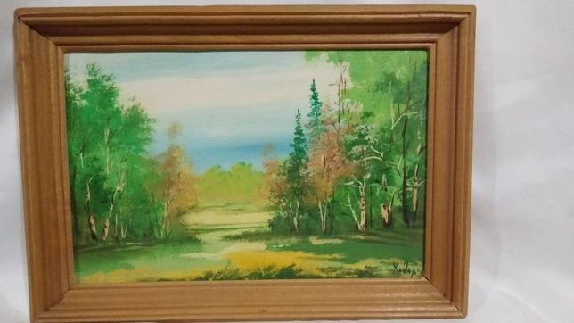Картина  25х35 см. маслом в деревянной буковой рамке.