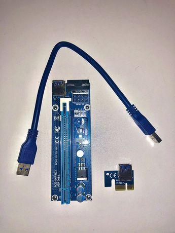 PCI-E 1x USB 3.0 райзер-удлинитель для видеокарты