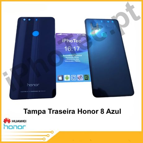Tampa Vidro Traseira Honor 8 Azul