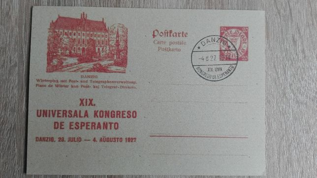 karta pocztowa WMG Danzig 1927