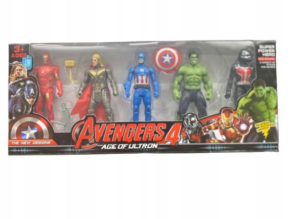 5x FIGURKI AVENGERS thanos iron man hulk