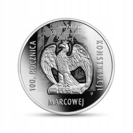 Srebrna moneta 10 zł - 100. rocznica Konstytucji marcowej 2021r.
