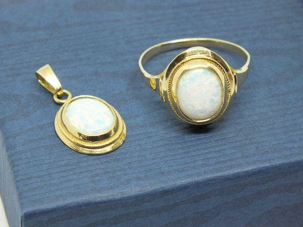**Biżuteria złota z opalitem p.585-Lombard Stówka**