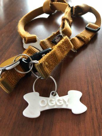 Brelok kość dla psa z jego imieniem - druk 3D