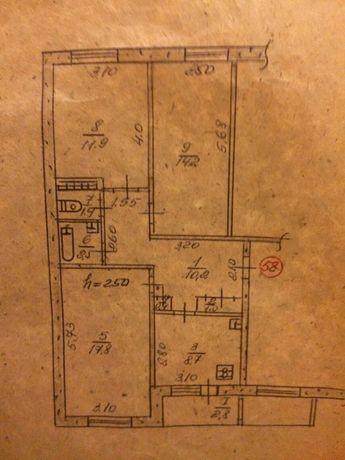 Продам 3х комнатную квартиру на Южном микрорайоне