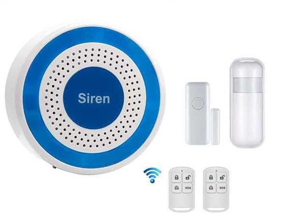 Alarme Casa/Loja sem Fios WiFi + 2 Sensores e 2 Comandos  (NOVO)
