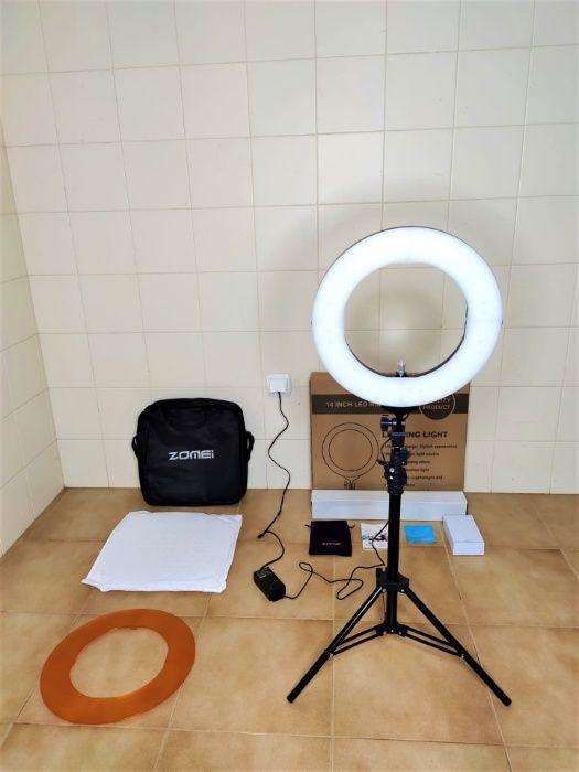[NOVO] Ring Light ZOMEI - Tripé Extensível 160 cm - Anel 35 cm Aradas - imagem 1