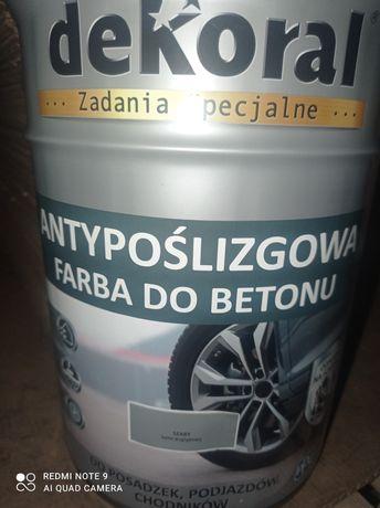 Farba antypoślizgowa szara DEKORAL 5l.