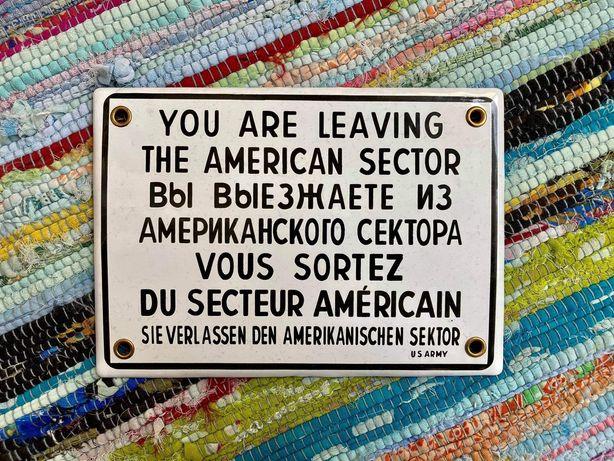 Placa decorativa muro de Berlim/checkpoint Charlie