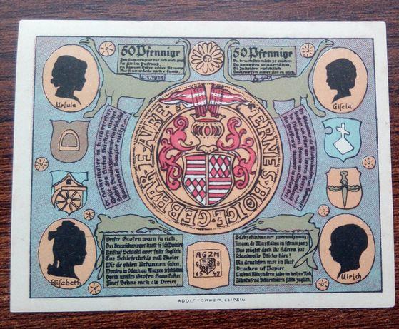 50 Pfennig 1921 rok. Artern Bergwart