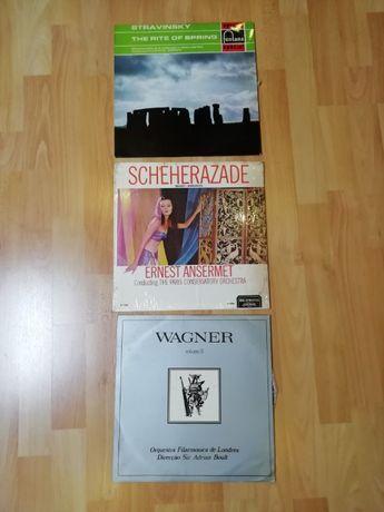 3 discos de vinil (música clássica)