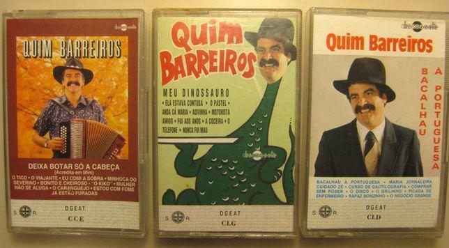 """3 cassetes originais """"Quim Barreiros"""""""