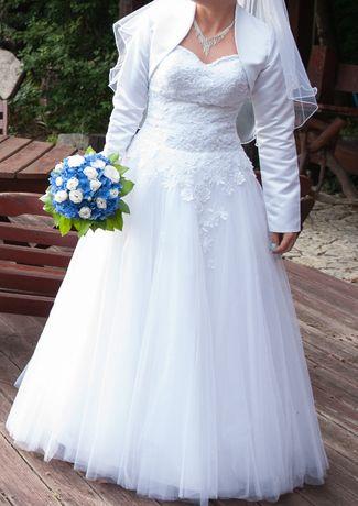 Suknia ślubna rozm 38+gratisy