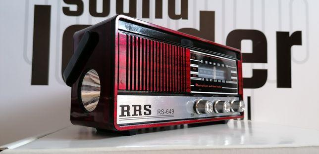 ID: 022 RETRO radio wielofunkcyjne odtwarzacz mp3 latarka led