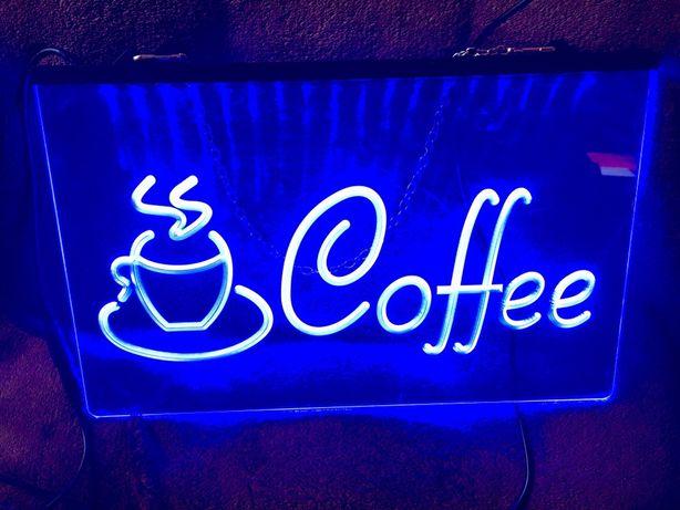 Светодиодная Лед вывеска Coffee