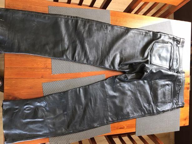 Spodnie skórzane na motocykl