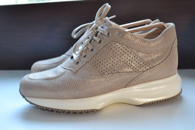 hogan 38.5р Оригинал. кожаные сникерсы , ботинки кроссовки.