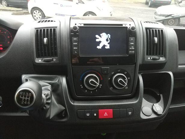 Auto Rádio GPS Bluetooth Fiat Ducato Citroen Jumper Peugeot Boxer