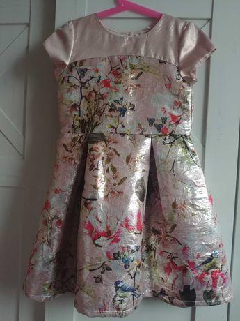Nowa Next elegancka wizytowa sukienka dla dziewczynki 134