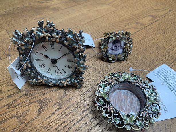 Mini ramka+zegarek+świecznik - zestaw prezentowy