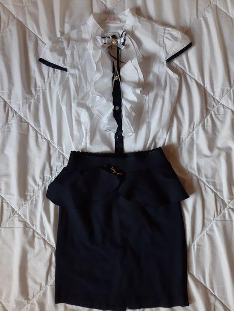 Школьная форма, блузка, юбка