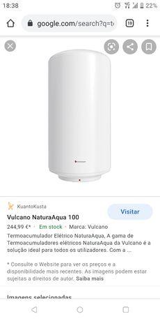 Termoacumulador Vulcano Natura Aqua 100L