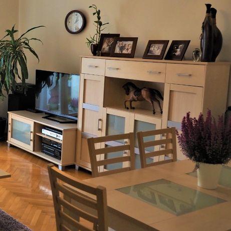 MEBLOŚCIANKA szafka pod telewizor KOMODA szafa zestaw BARDZO zadbana