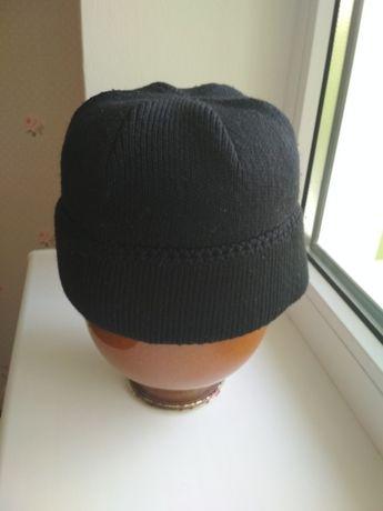 шапка теплая (двойная вязка)