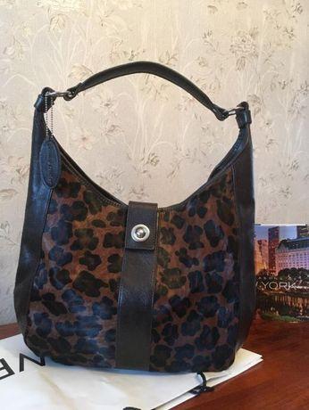 Новая оригинальная кожаная декорированная вместительная сумка