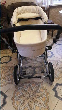 Детская коляска с автокреслом BabyStyle Prestige White Croc 3 в 1