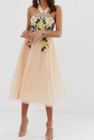 Asos pięknie zdobiona sukienka xl