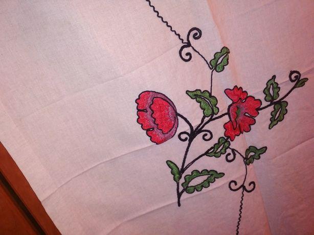 Продам дорожка штора с вышивкой из СССР Натуральный лен