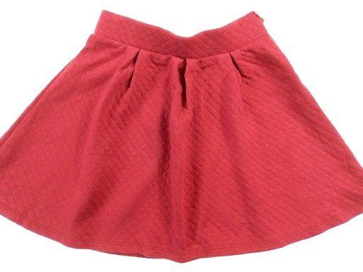 Czerwona pikowana spódniczka H&M M/L