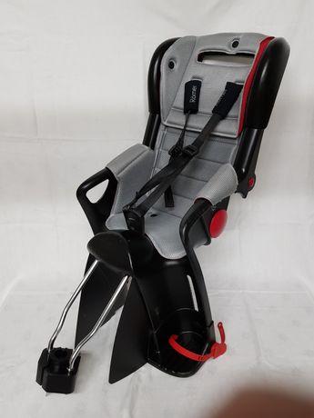 Fotelik krzesełko na rower romer jockey czarno szary