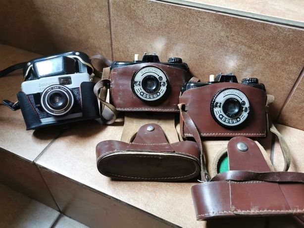 Zestaw aparatów fotograficznych retro