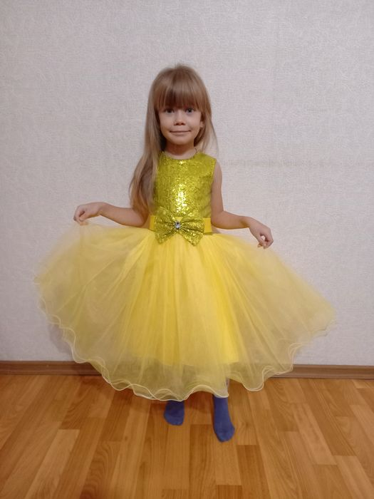 Платье звёздочки, принцессы, солнышка, карнавальный, новогодний костюм Кривой Рог - изображение 1
