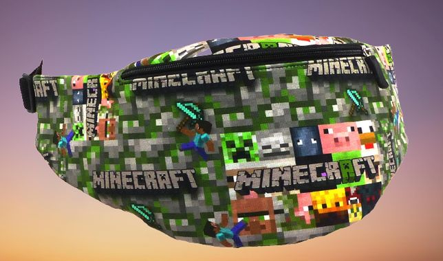 MINECRAFT saszetka mini bag nerka MINECRAFTna ramie pas